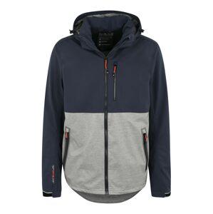 KILLTEC Športová bunda 'Nilon'  sivá / námornícka modrá