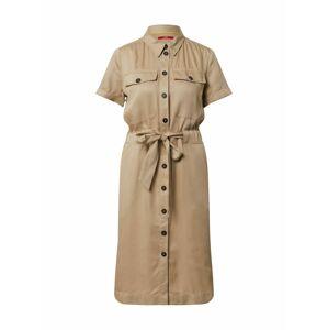 s.Oliver Košeľové šaty  béžová
