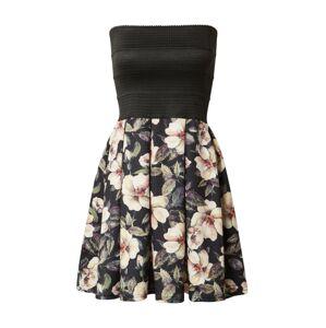 Hailys Kokteilové šaty 'Liv'  čierna / zmiešané farby