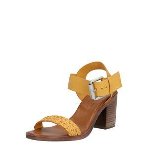 SHABBIES AMSTERDAM Remienkové sandále 'Nappa'  žltá