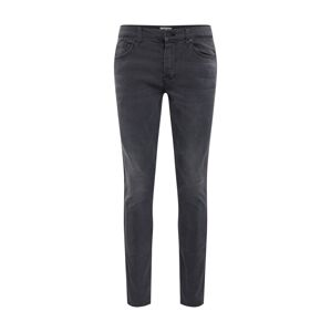 Only & Sons Džínsy 'LOOM SLIM TAPE BLACK PK 5415'  čierny denim / červená