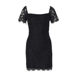 Fashion Union Kokteilové šaty 'TENDER'  čierna