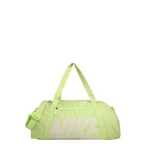 NIKE Športová taška 'GYM CLUB'  biela / pastelovo zelená