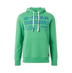 G-Star RAW Mikina 'Originals'  modrá / trávovo zelená
