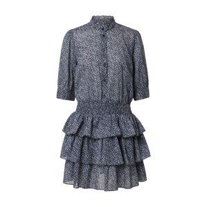 MICHAEL Michael Kors Košeľové šaty 'BLOSSOM'  biela / svetlomodrá / tmavomodrá