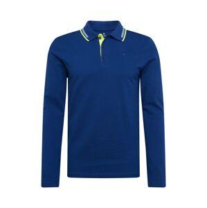 TOM TAILOR Tričko  modrá / biela / neónovo zelená