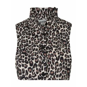 Pinned by K Golier 'Collar ruffle leopard'  hnedá