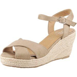 TOM TAILOR Remienkové sandále  béžová / farba ťavej srsti