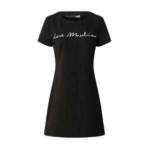 Love Moschino Šaty  čierna / biela