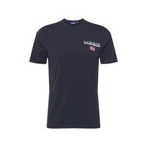 NAPAPIJRI Tričko 'ICE'  biela / červená / námornícka modrá