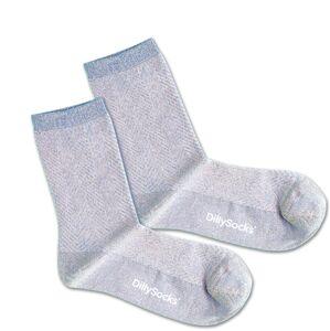 DillySocks Ponožky 'Sweet Water'  strieborná / modrá