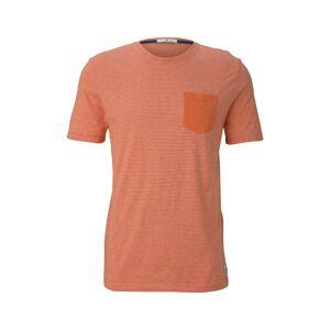 TOM TAILOR Tričko  béžová / oranžová