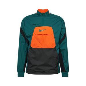 NIKE Športová bunda  tmavooranžová / čierna / petrolejová