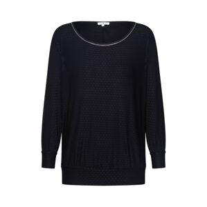 TOM TAILOR Tričko 'T-shirt structure batwing'  čierna