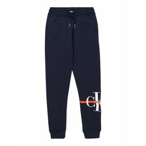 Calvin Klein Jeans Nohavice 'MONOGRAM'  tmavomodrá