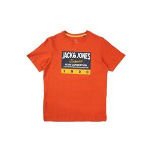 Jack & Jones Junior Tričko 'ORTONNI'  žltá / oranžovo červená / námornícka modrá / biela