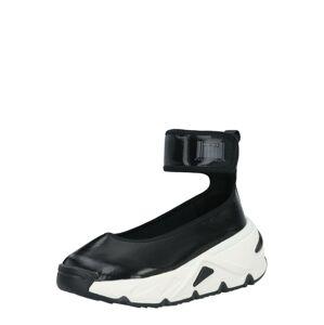 DIESEL Členkové tenisky 'Herby'  čierna / biela
