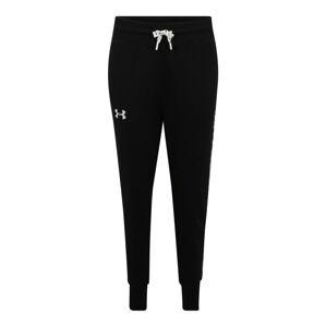UNDER ARMOUR Športové nohavice 'FLEECE PANT TAPED'  biela / čierna