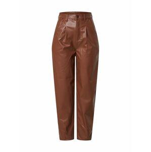 NA-KD Plisované nohavice  farba ťavej srsti
