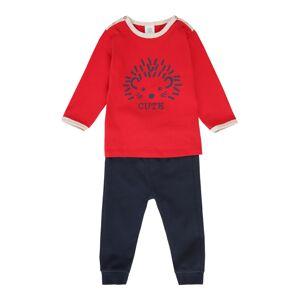 SANETTA Pyžamo  tmavomodrá / svetločervená