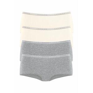 LASCANA Nohavičky  krémová / sivá melírovaná
