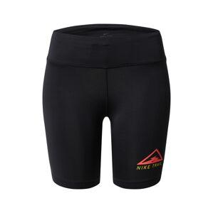 NIKE Športové nohavice 'Nike Fast'  červená / čierna