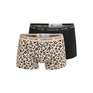 Calvin Klein Underwear Boxerky  čierna / svetlobéžová