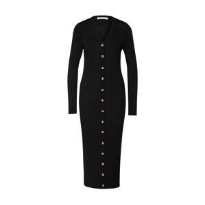 EDITED Pletené šaty 'Lora'  čierna
