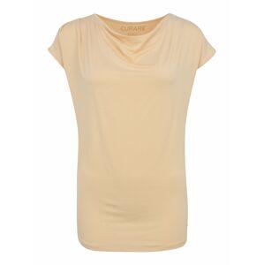 CURARE Yogawear Funkčné tričko  piesková