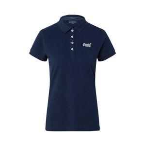Superdry Tričko  námornícka modrá / biela