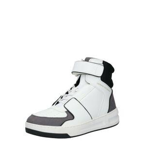 ARMANI EXCHANGE Členkové tenisky  sivá / biela / čierna