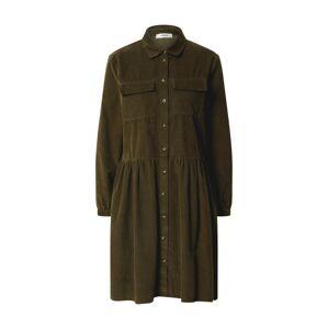 MOSS COPENHAGEN Košeľové šaty 'FREA'  olivová