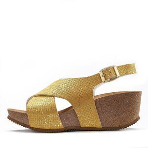 LASCANA Remienkové sandále  zlatá žltá