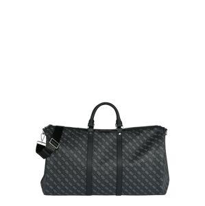 GUESS Víkendová taška  čierna / sivá