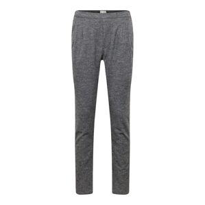 minimum Plisované nohavice 'fur'  sivá melírovaná