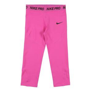 NIKE Športové nohavice  čierna / ružová