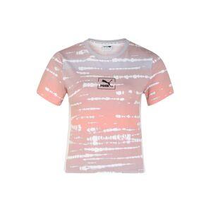 PUMA Funkčné tričko 'TIE DYE AOP Tee Wmns'  oranžová / orgovánová