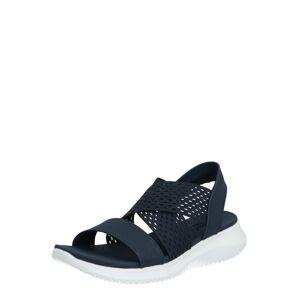 SKECHERS Remienkové sandále 'Ultra flex neon star'  tmavomodrá