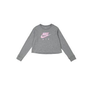 Nike Sportswear Tričko  sivá / ružová