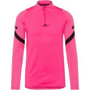 NIKE Funkčné tričko 'Strike'  čierna / neónovo ružová
