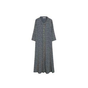 VIOLETA by Mango Košeľové šaty 'Wilson'  námornícka modrá / biela