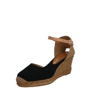 MACARENA Sandále  béžová / čierna