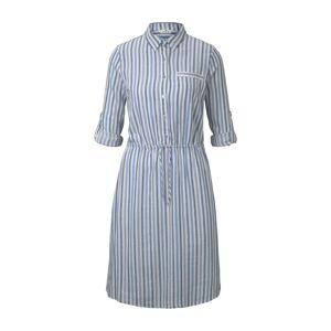 TOM TAILOR Letné šaty  modrosivá / svetlomodrá / biela