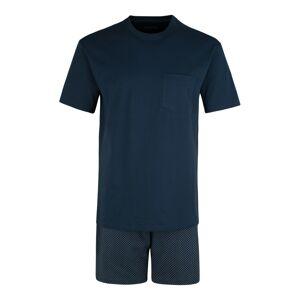 SCHIESSER Krátke pyžamo  tmavomodrá / sivá melírovaná