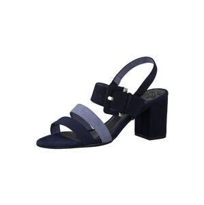 MARCO TOZZI Remienkové sandále  svetlomodrá / tmavomodrá