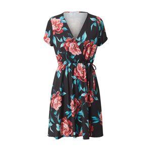 Hailys Letné šaty 'Sina'  čierna / ružová / modrá