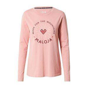 Maloja Funkčné tričko 'Semtokha'  ružová / zmiešané farby