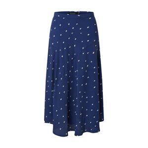 SOAKED IN LUXURY Sukňa 'SLAlaya Skirt'  biela / modrá