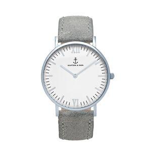 Kapten & Son Analógové hodinky 'Campus'  sivá