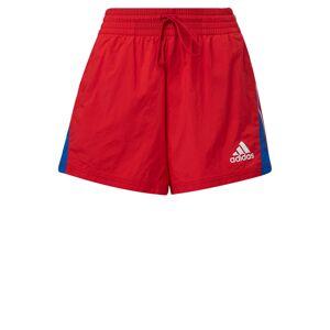 ADIDAS PERFORMANCE Športové nohavice  červená / kráľovská modrá / biela